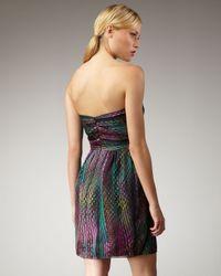 Shoshanna - Multicolor Dot-print Silk Dress - Lyst