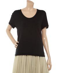 T By Alexander Wang Black Cotton-jersey T-shirt
