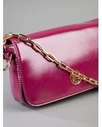 Tory Burch Purple Patent Leather Bag