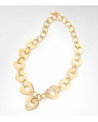Tory Burch - Metallic Corazon Necklace - Lyst