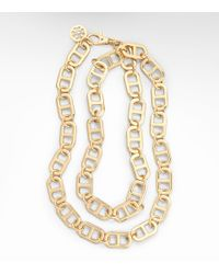 Tory Burch Metallic Plato Interlocking Chain Necklace