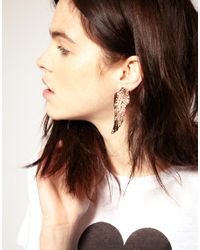 Wildfox - Metallic Gold Plated Winged Earrings - Lyst