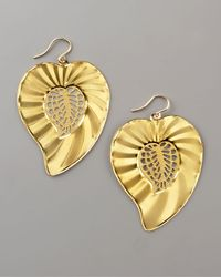 Devon Leigh | Metallic Leaf Earrings | Lyst