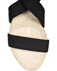 Kors by Michael Kors Black Willow Canvas and Raffia Sandals