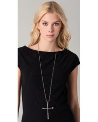 Low Luv by Erin Wasson Metallic Cross Pendant Necklace