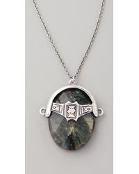 Low Luv by Erin Wasson | Metallic Labradorite Afghani Toggle Necklace | Lyst