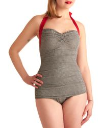 ModCloth | Gray Coupe Of Tea One Piece | Lyst