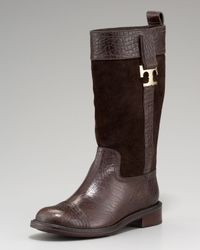 Tory Burch Brown Corey Mid-calf Boot