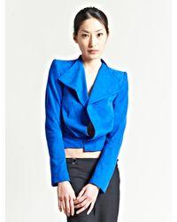 Haider Ackermann | Blue Womens Watts Suede Jacket | Lyst