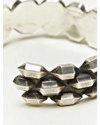 Haider Ackermann Metallic Womens Sterling Silver Soldered Stud Bracelet