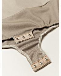 Maison Margiela   Brown 1 Womens Leather Panel Bodice   Lyst