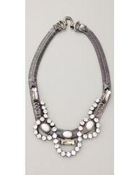 Fallon - Metallic Ines Snake Necklace - Lyst