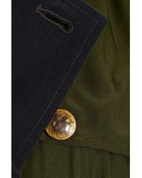 Gryphon Green Silk Trench Dress