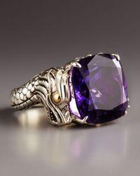 John Hardy | Metallic Naga Batu Ring, Amethyst | Lyst