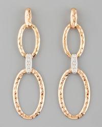 Roberto Coin - Metallic Martellato Diamond Earrings - Lyst
