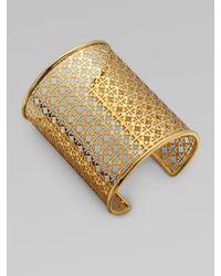 Tory Burch | Metallic Logo Cuff Bracelet | Lyst