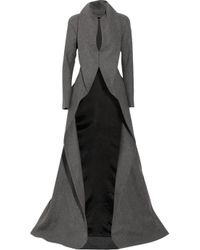 Alexander McQueen | Gray Wool and Cashmere-blend Coat | Lyst