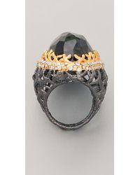 Alexis Bittar - Metallic Gunmetal Stone Woven Ring - Lyst
