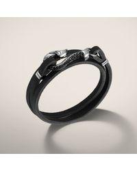John Hardy | Black Brown Leather Hook Bracelet for Men | Lyst