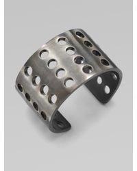 Kelly Wearstler | Metallic Perforated Cuff Bracelet | Lyst