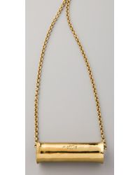 Mettle | Metallic Long Concave Cylinder Pendant Necklace | Lyst