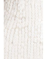 Rachel Gilbert - White Leticia Sequined Strapless Gown - Lyst