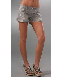 Rich & Skinny - Gray Lover Shorts - Lyst