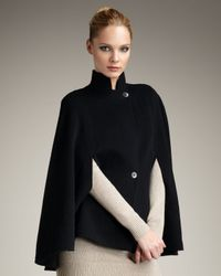 Theory - Black Wool Cape - Lyst