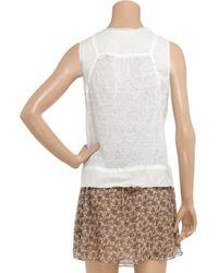 Vanessa Bruno | White Sheer Linen Top | Lyst