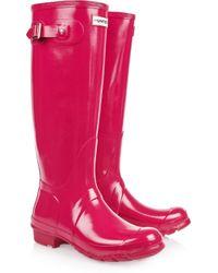 HUNTER | Red Original Tall Wellington Boots | Lyst