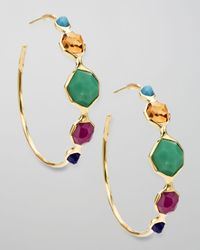 Ippolita | Multicolor Hoop Earrings, Riviera Sky | Lyst