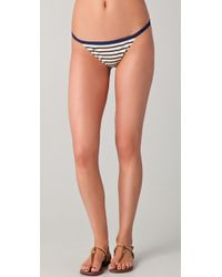Tory Burch | Blue Monogrammed Bikini Bottom | Lyst