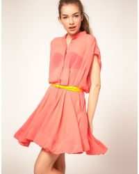Full Circle - Pink Shirt Dress - Lyst