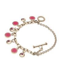Marc By Marc Jacobs - Pink Enamel Disc Charm Bracelet - Lyst
