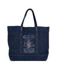 Lyst - Polo Ralph Lauren Aviator Navy Canvas Tote in Blue for Men 916f507c72678