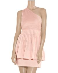 Richard Nicoll | Pink One-shoulder Cotton Dress | Lyst