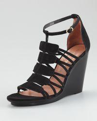 Robert Clergerie | Black Jalias Suede Gladiator Wedge Sandals | Lyst
