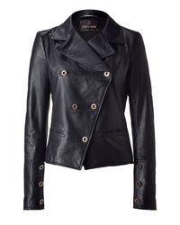 Roberto Cavalli | Black Leather Jacket | Lyst