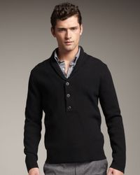 Theory Shawl-collar Sweater, Black for men