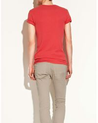 Zara | White Slim Fit T-shirt for Men | Lyst