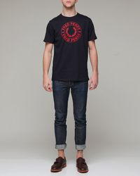 Fred Perry - Blue Round Logo T for Men - Lyst