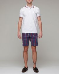 Fred Perry | White Twin Tipped Polo for Men | Lyst