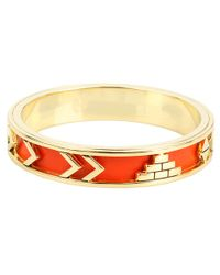 House of Harlow 1960 - Yellow Aztec Bangle with Coral Leather - Lyst