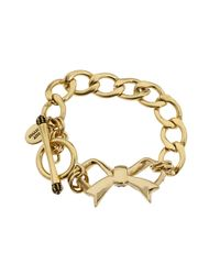 Juicy Couture - Metallic Pave Bow Starter Bracelet - Lyst