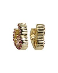 Juicy Couture | Metallic Pave Heart Huggie Earrings | Lyst