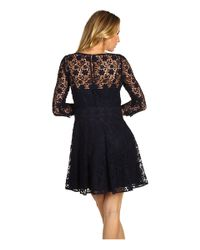 Juicy Couture | Black 3/4 Sleeve Guipure Lace Dress | Lyst