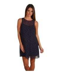 Juicy Couture - Black Regal Moon Dot Print Dress - Lyst