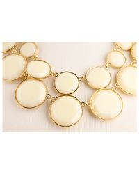 kate spade new york | Natural Baublebox Bib Necklace | Lyst