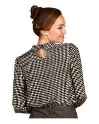 kate spade new york - Black Reade Blouse - Lyst