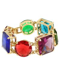 kate spade new york | Multicolor Trellis Blooms Open Hinge Cuff Bracelet | Lyst
